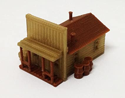 690f4fe5282a Outland Models Train Railway Layout Building Old West House / Shop N Scale  1:160