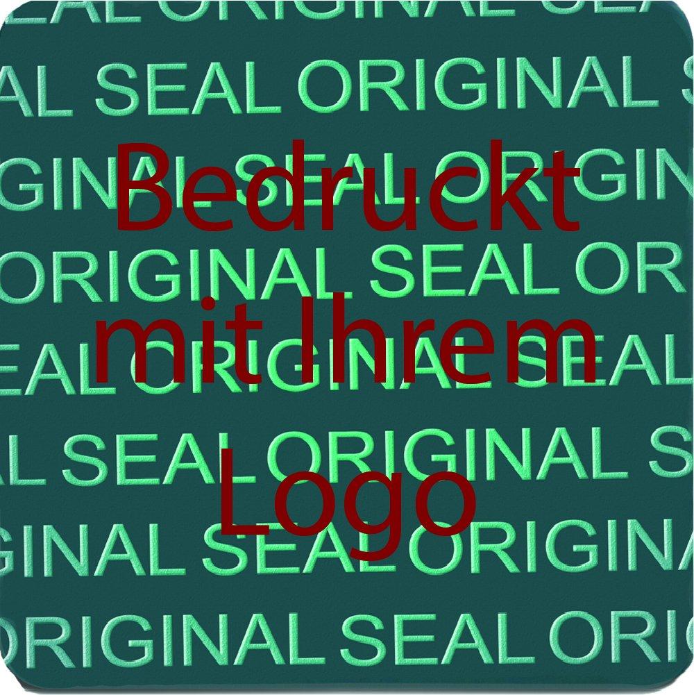 EtikettenWorld BV, EW-H-2500-50-tdr-700, 700 Stück Hologrammaufkleber, Hologrammaufkleber, Hologrammaufkleber, 2D, 15x15mm blaufarbige Metallfolie, bedruckt in dunkel-rot mit Ihrem Wunschtext Logo, Hologramm Etiketten, selbstklebend, Hologramm Aufkleber, Sicherheitssiegel, Garantiesiegel,  118966