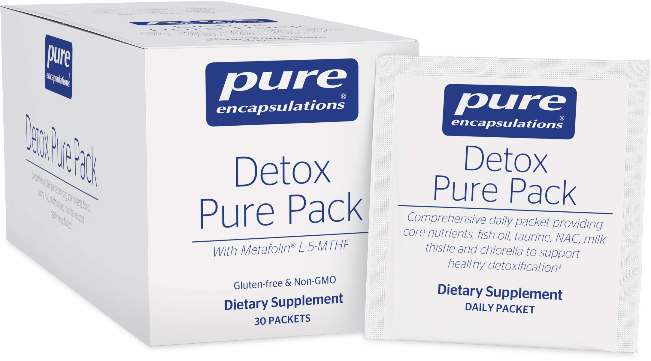Pure Encapsulations - Detox Pure Pack - Daily Packet with Metafolin L-5-MTHF - 30 Packets