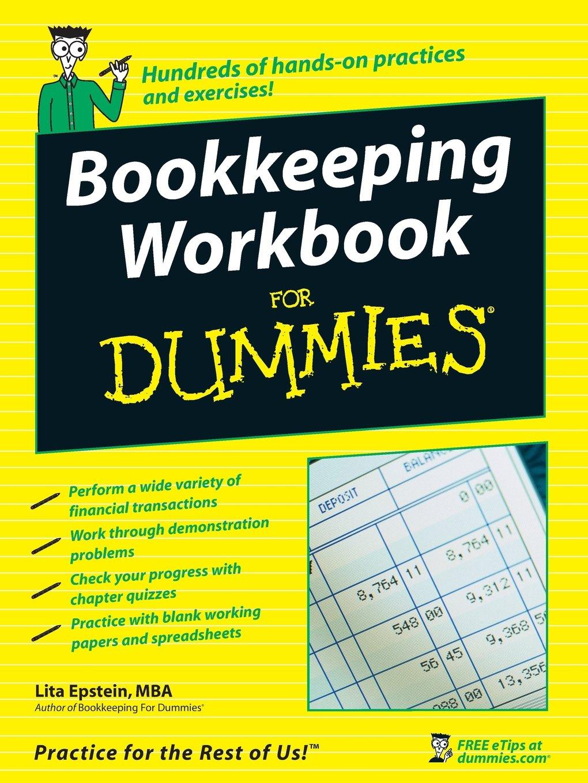 Amazon Bookkeeping Workbook For Dummies 9780470169834 Lita