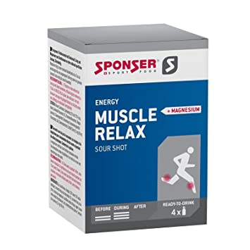 Sponser Muscle Relax Sour Shot Magnesio 4 x 30 ml tipos de fitness deporte Drink muscular Energy Energía, SP de Mr: Amazon.es: Deportes y aire libre
