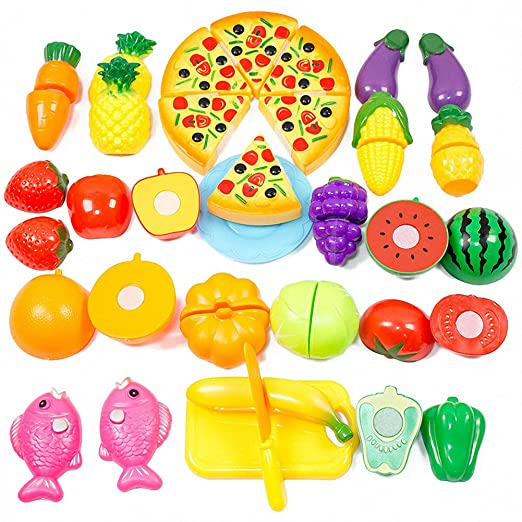 15 opinioni per Ateid- Verdura Frutta Pizza Cucina Giocattolo Taglio Gioco da Bambino, 24 Pezzi