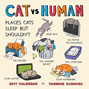 CAT vs HUMAN 2017 Wall Calendar