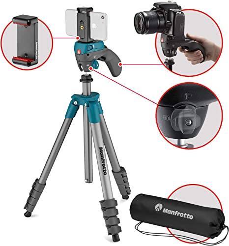 Manfrotto Compact Action Smart tripode Smartphone/Action Camera 3 ...