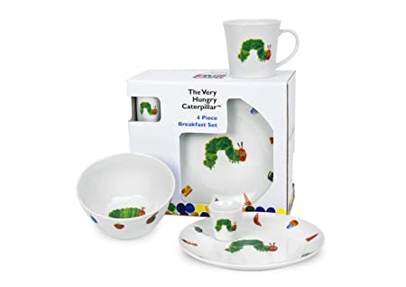 Royal Worcester The Very Hungry Caterpillar 4-Piece Breakfast Set includes Plate/Bowl/  sc 1 st  Amazon UK & Royal Worcester The Very Hungry Caterpillar 4-Piece Breakfast Set ...