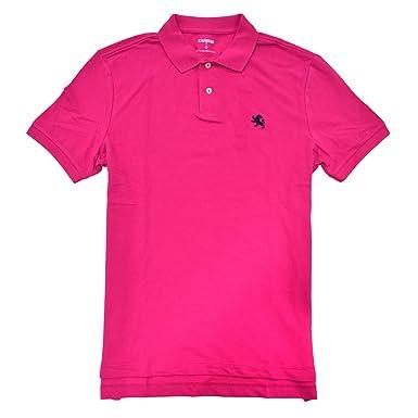 d8894618 Amazon.com: Express Mens Modern Fit Pique Polo Shirt (XL, Pink): Clothing