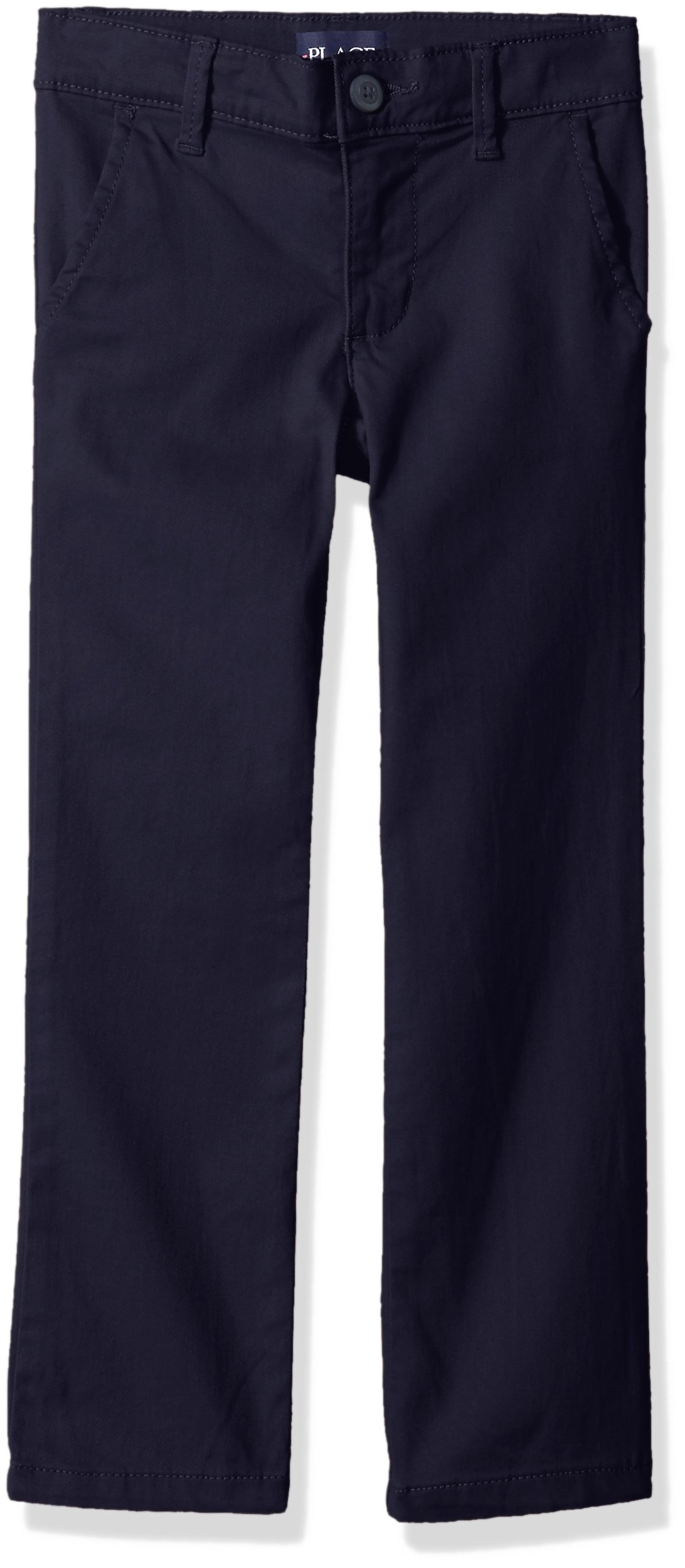 The Children's Place Girls Size' Skinny Uniform Pants, Tidal 4406, 5 Plus