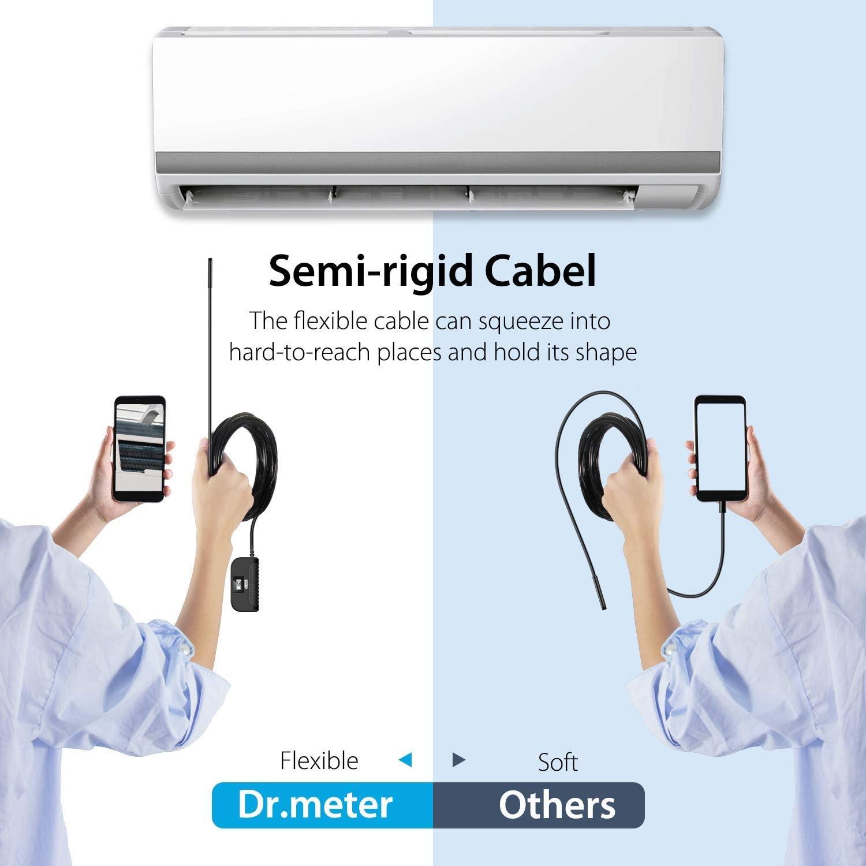 Endoscopio Wireless Samsung iPad Dr.meter 2.0 Megapixels Telecamera di ispezione impermeabile IP68 HD con Cavo Semi-rigido 3,5 m e 6 LED Periscopio WiFi per smartphone iOS e Android Tablet