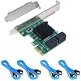 Ziyituod SATA Card, 4 Port with 4 SATA Cables, 6 Gbps SATA Controller PCI Express Expression Card with Low Profile…