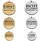 Memories Coding Custom Dog Tags Pet Id Tags for Small/Large Breed Dog Name Engraved Plates Double Sides Engraved- Stainless Steel Silver, Gold