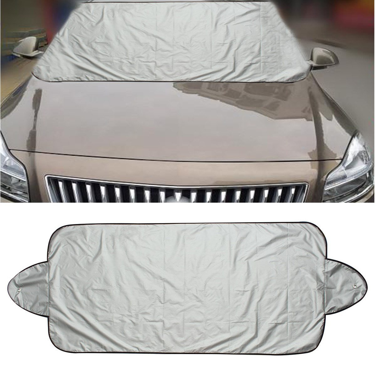 QCYM 146 X 70Cm Car Windscreen Cover Heat Sun Shade Anti Snow Frost Ice Shield Dust Protector