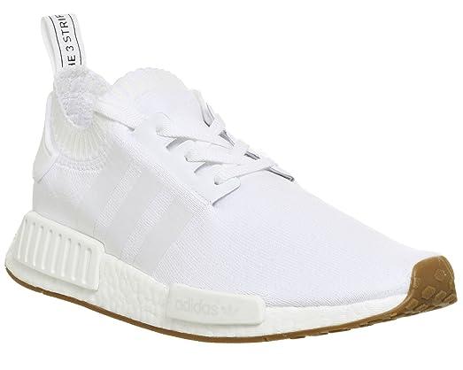 adidas uomini nmd r1 pk, bianco / gomma, strada facendo ci m