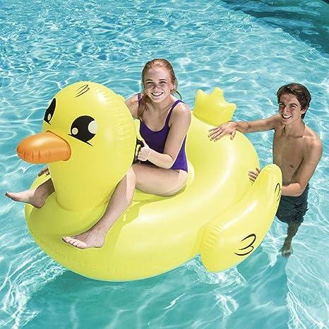 FBEST Flotador de Pato Real Hinchable Grande. Divertida colchoneta Hinchable de Playa y Piscina para niños y Adultos: Amazon.es: Deportes y aire libre