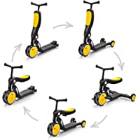 Scooter Plegable 5 en 1 Bicicleta sin Pedales - Scooter Tres Ruedas - Pátinete para Niños Infantil Ultraligera Mini Bici…