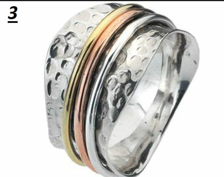 Meditation Ring Spin-Pray Ring6us JewelsExporter Sterling Silver Ring.Spinner Ring