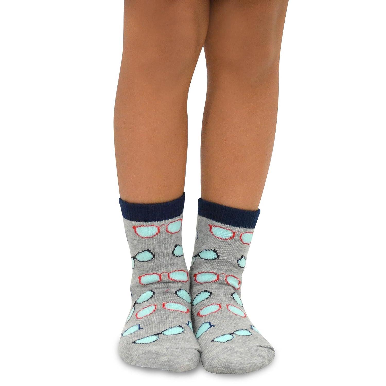 TeeHee Naartjie Kids Boys Fashion Fun Cotton Crew Socks 6 Pair Pack