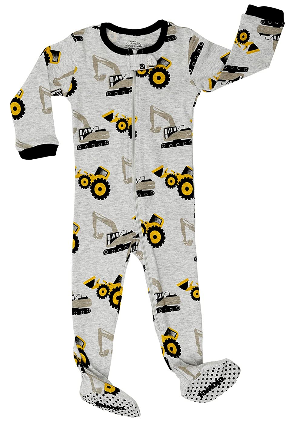 Elowel Baby Boys Footed Helicopter Pajama Sleeper 100% Cotton (Size 6M-5Years) fb-Helicopter00