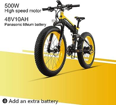 LANKELEISI XT750 Plus 48V10AH 500W Motor Nueva Bicicleta eléctrica ...