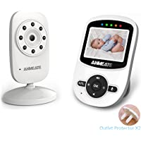"Video Baby Monitor with Camera and Infrared Night Vision, Two-Way Talkback, and Temperature Monitor – Long Range, Monitor Your Baby All Round The Clock,Include Compatible Mount Shelf (2.4"") (white1)"