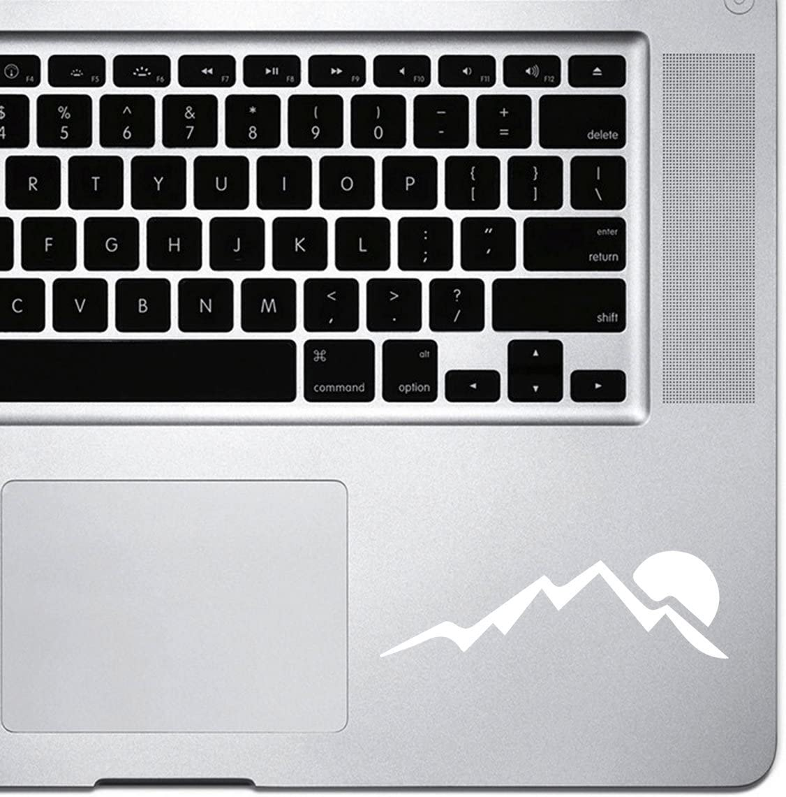 StickAny Palm Series Big Mountain Sunset Sticker for MacBook Pro, Chromebook, and Laptops (White)