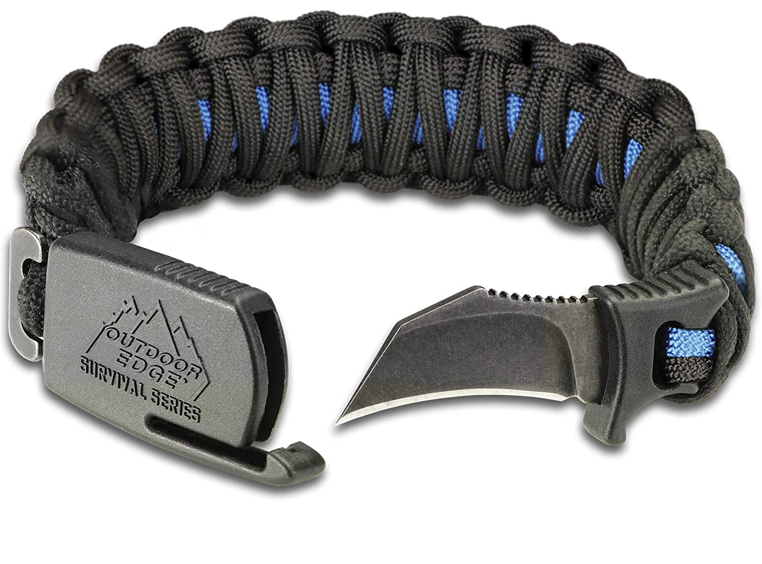 Outdoor Edge ParaClaw Paracord Survival Bracelet with 1 5 Inch Knife Blade