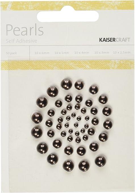 Snow Kaisercraft Self-Adhesive Pearls 50-Pack