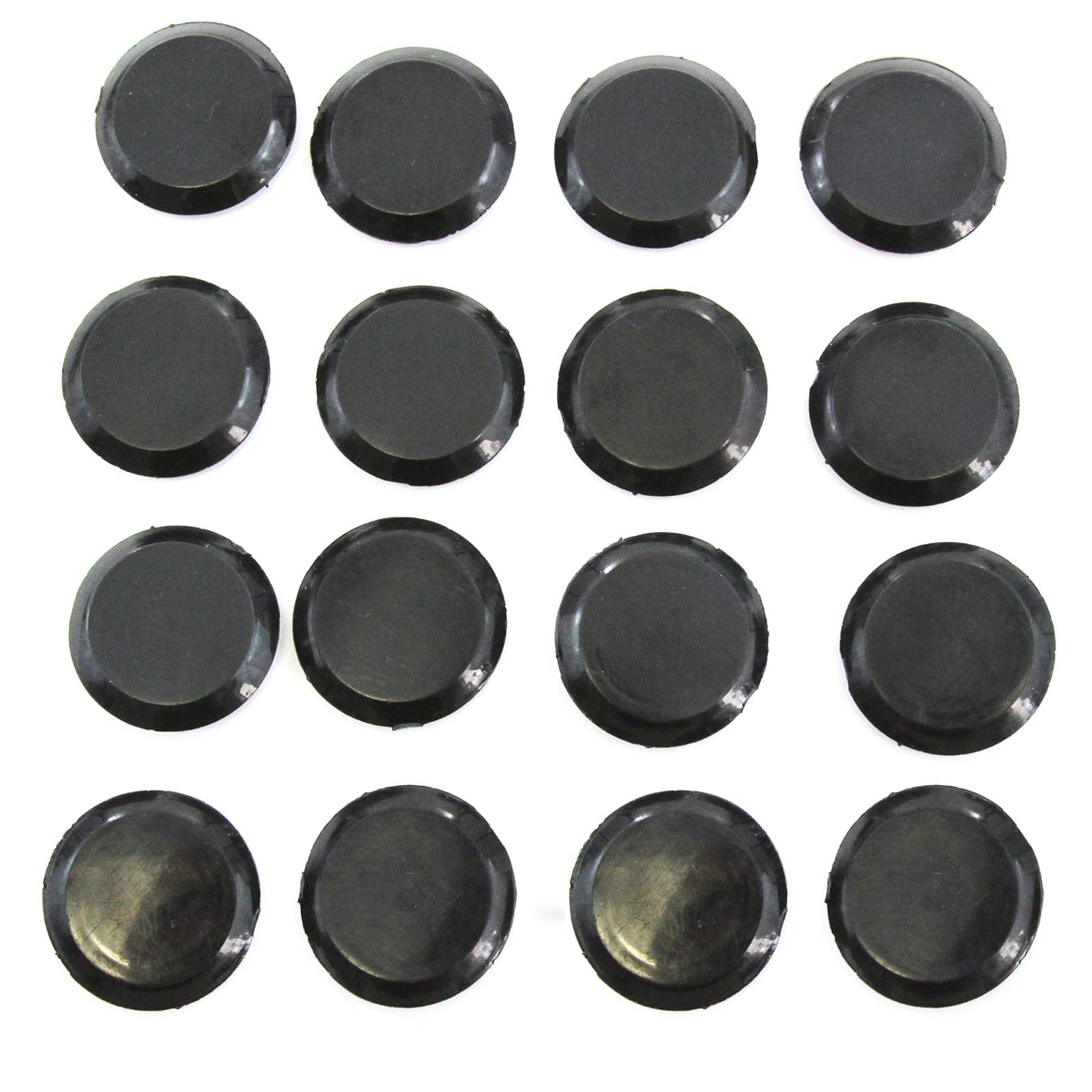 Red Hound Auto 16 Floor Drain Plugs 1999-2006 Compatible with Jeep Wrangler TJ Rubber Hole Cover Round Shaped