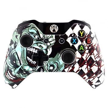 eXtremeRate Carcasa Xbox One Original Funda Delantera Protectora de la Placa Frontal Cubierta Esmerilada Antideslizante Accesorios para Mando del Xbox ...