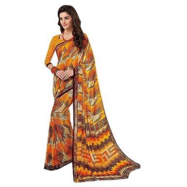Bollywood Formal Printed Saree Collection Sari Blouse Formal Multi Designer Muslim Casual Women Indian Ethnic 2843