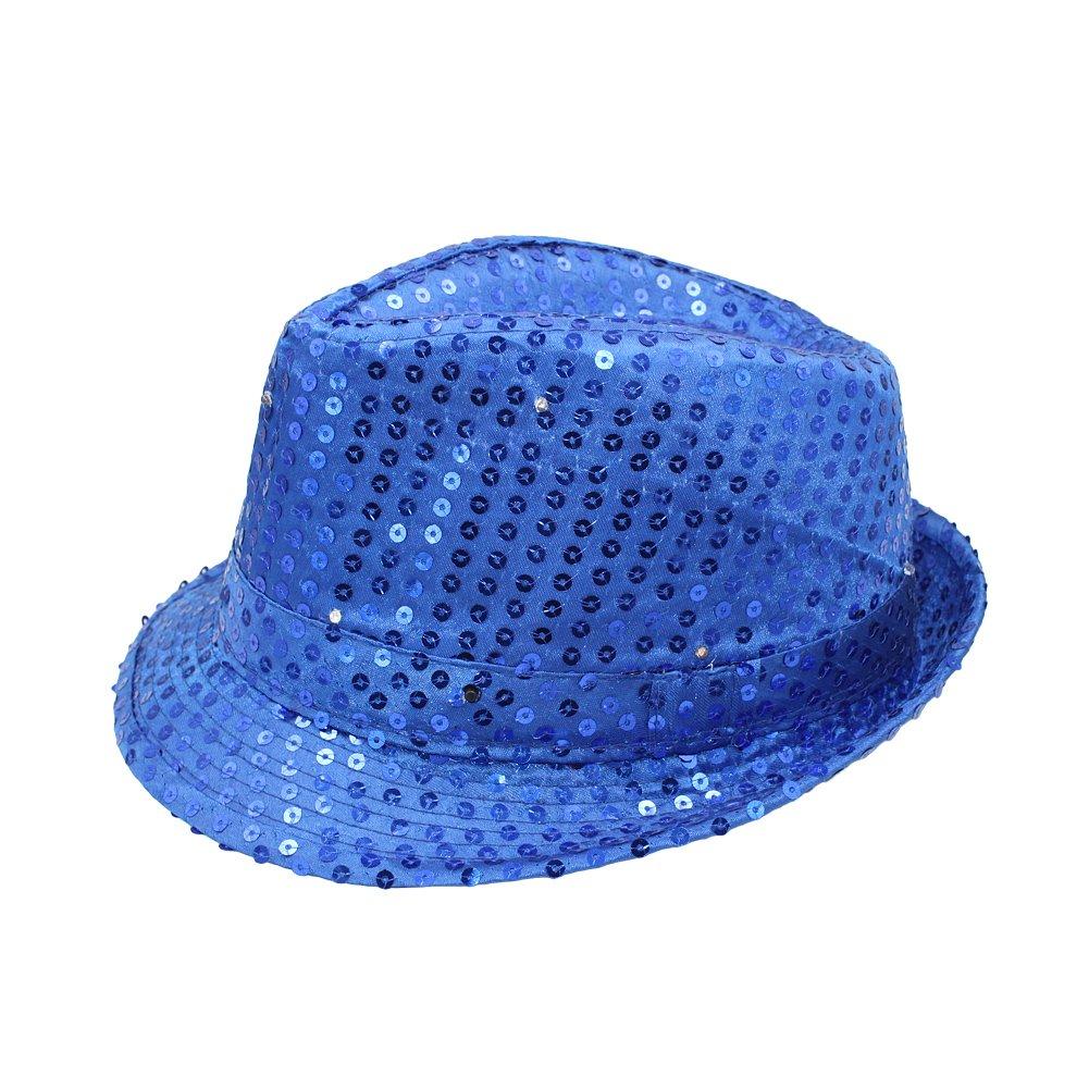 con 9 luces LED y lentejuelas estilo jazz Sombrero de Namsan