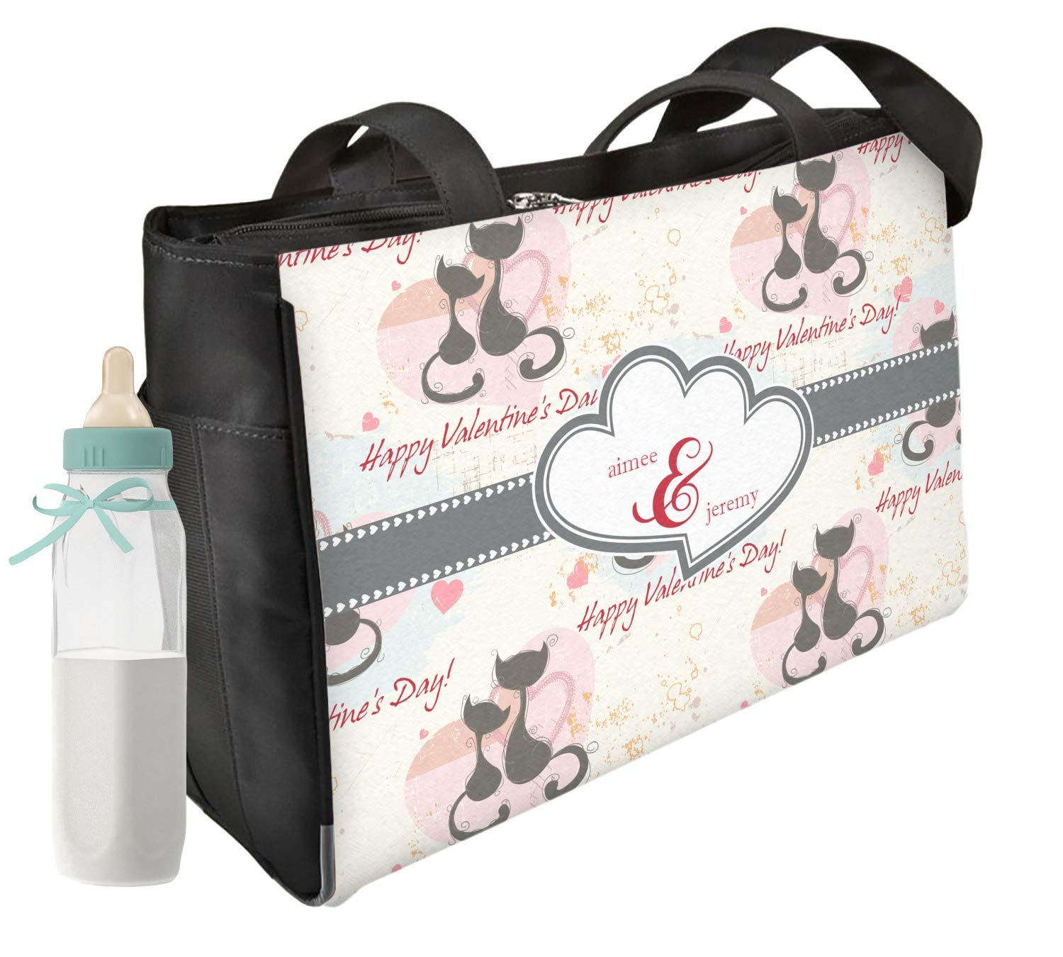 Cats in Love Diaper Bag - Front & Back (Personalized)