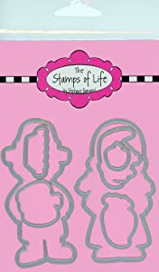 Pilgrim Die Cuts for Card-Making and Scrapbooking Supplies by The Stamps of Life - Pilgrim Boy and Girl