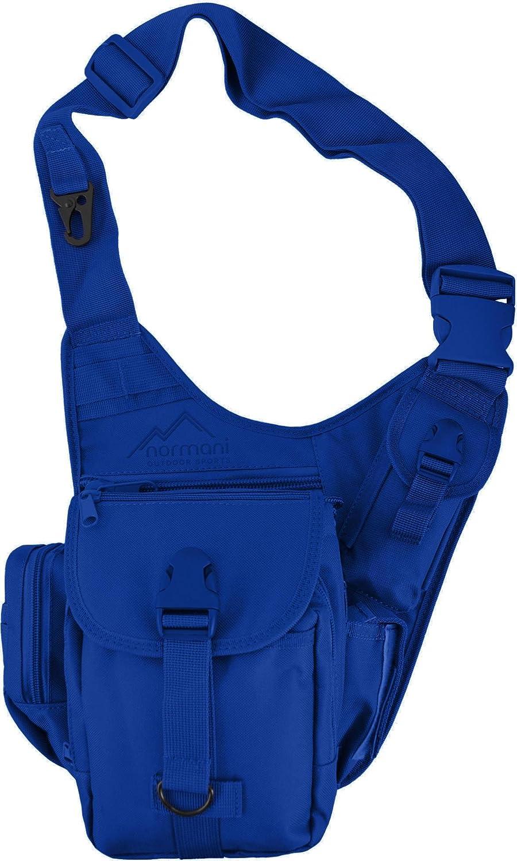 Schultertasche / Multifunktions Umhängetasche für Damen und Herren / Military Tactical Rucksack/ Brusttasche / Crossbag mit einem Gurt / Sling Bag / einseitiger Rucksack für Radfahren Wandern Camping Freizeit Uni Schule normani