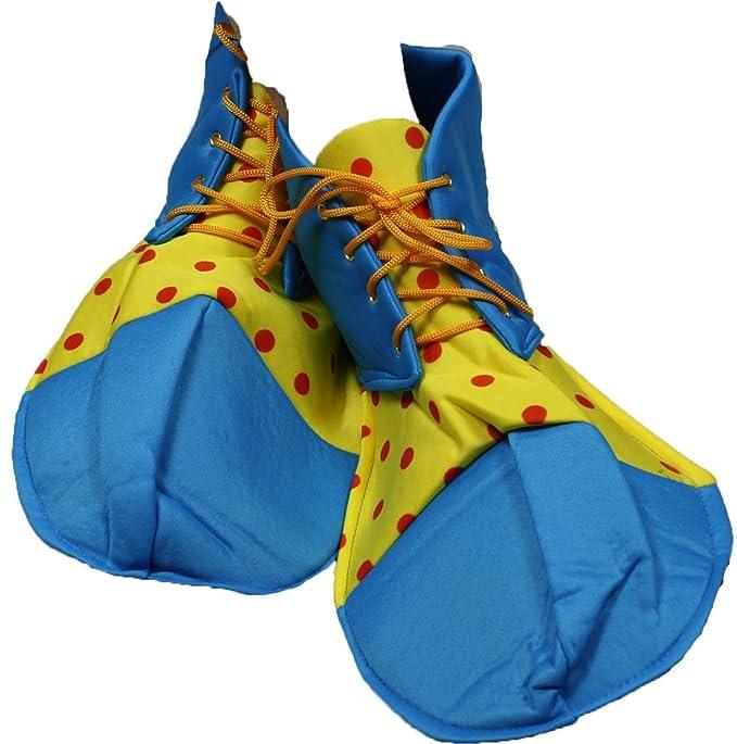 Vestido de fiesta azul de pavo real amarillo lunares suave Jumbo – Zapatos de payaso para