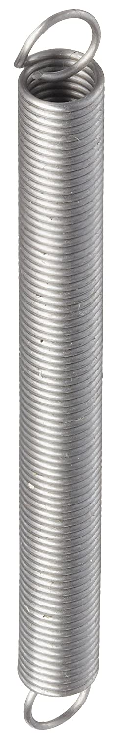 0.18 OD 1.01 Extended Length 3.45 lbs Load Capacity Music Wire Extension Spring 0.022 Wire Size 0.62 Free Length 6.3 lbs//in Spring Rate Steel Inch Pack of 10