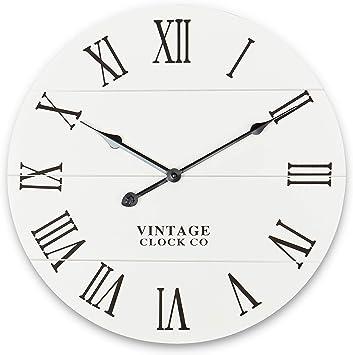 Rustic Wall Clock - Kitchen/Home/Farmhouse/Dining Room/Vintage/Grandfather  Clocks - Decorative Wooden Clock - Modern Decor - Round Decoration - Farm  ...