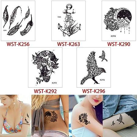 adgkitb 2pcs Tatuaje Pegatina calcomanía Tatuaje Temporal Papel ...