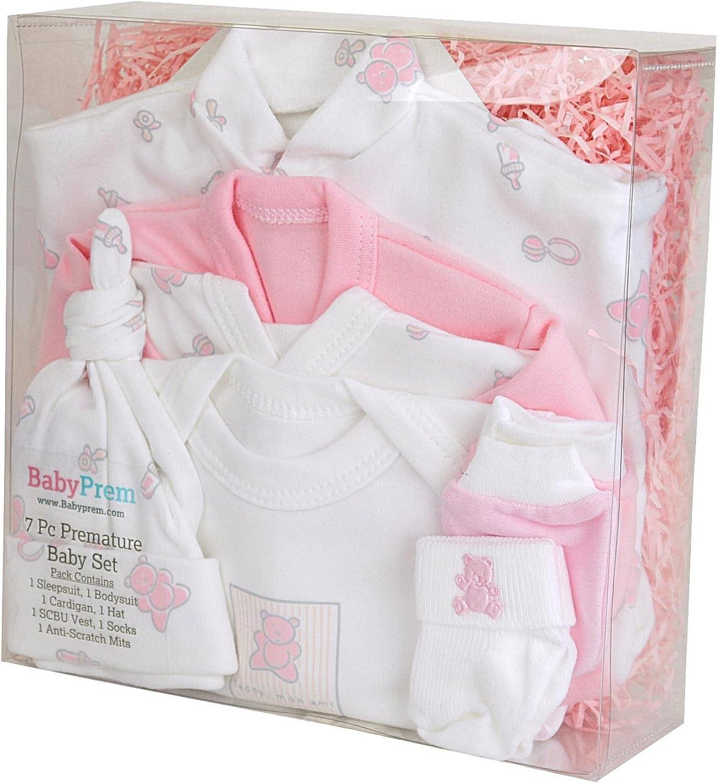 Babyprem Beb/é Prematuro Juego de Regalo 7 Piezas Pijama Body Ropa Algod/ón Ni/ña Ni/ño 32-50cm