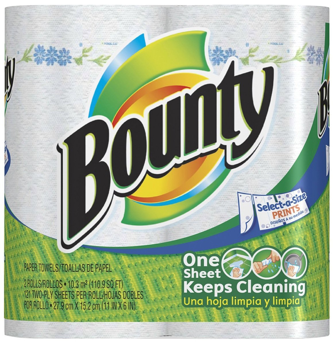 Amazon.com: Bounty Value Roll, 2 Ply, Prints, 2 ct: Health & Personal Care