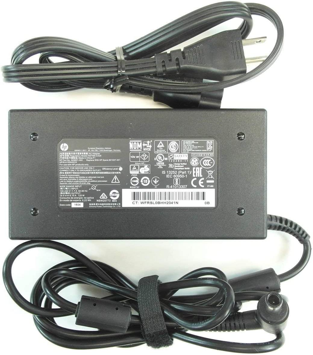 New Genuine HP Envy Pavilion 19.5V 6.15A 120W Smart Pin AC Adapter HSTNN-CA25 730982-002 (Renewed)