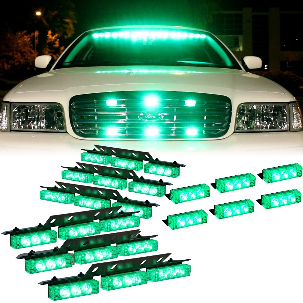 1 set DT MOTO/™ Amber 54x LED Service Trucks Deck Grille Dash Warning Lights
