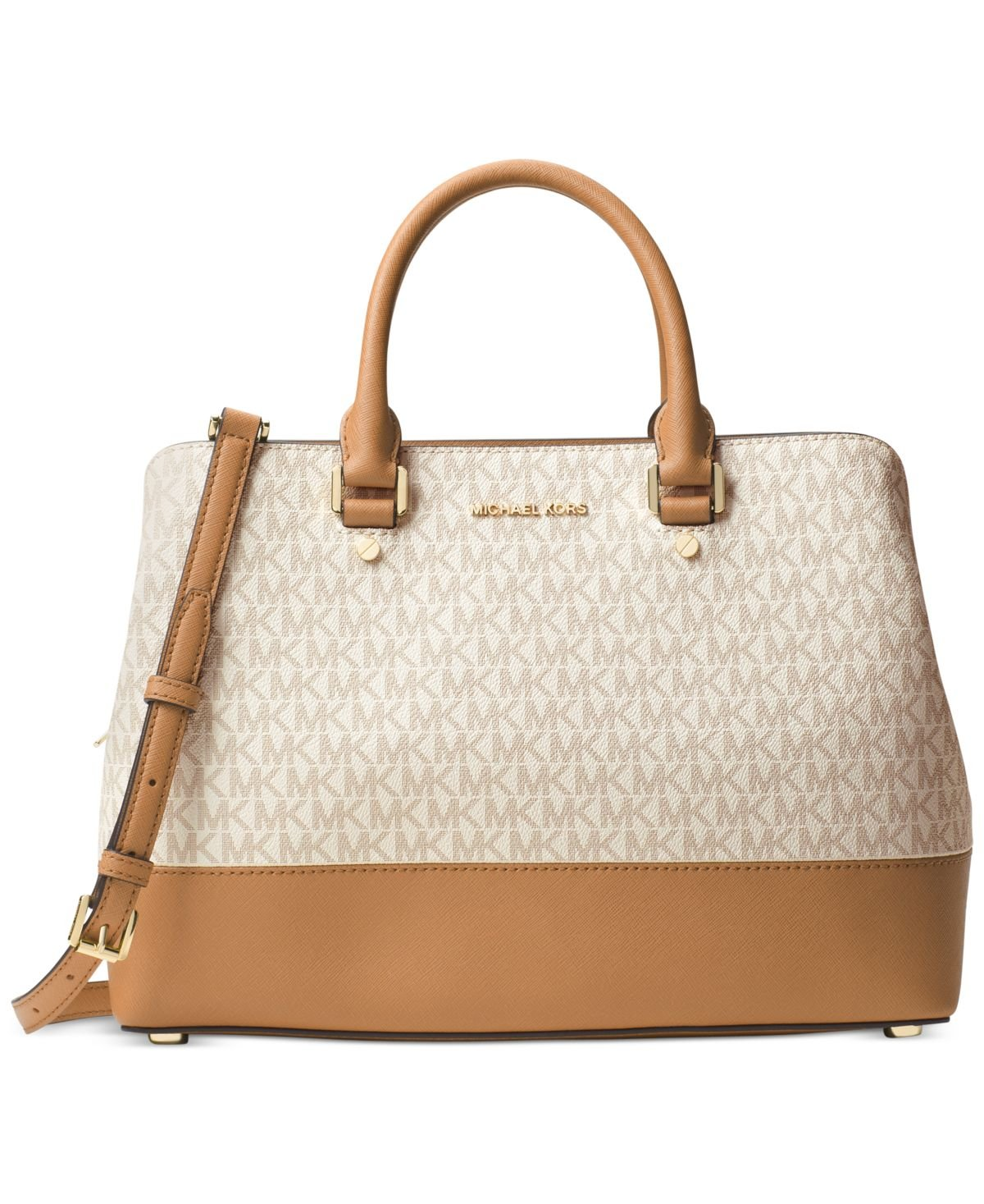 Michael Kors Savannah Large Satchel (Vanilla)