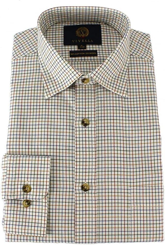 Viyella – Plum, diseño de Cuadros Tattersall Camiseta con un ...