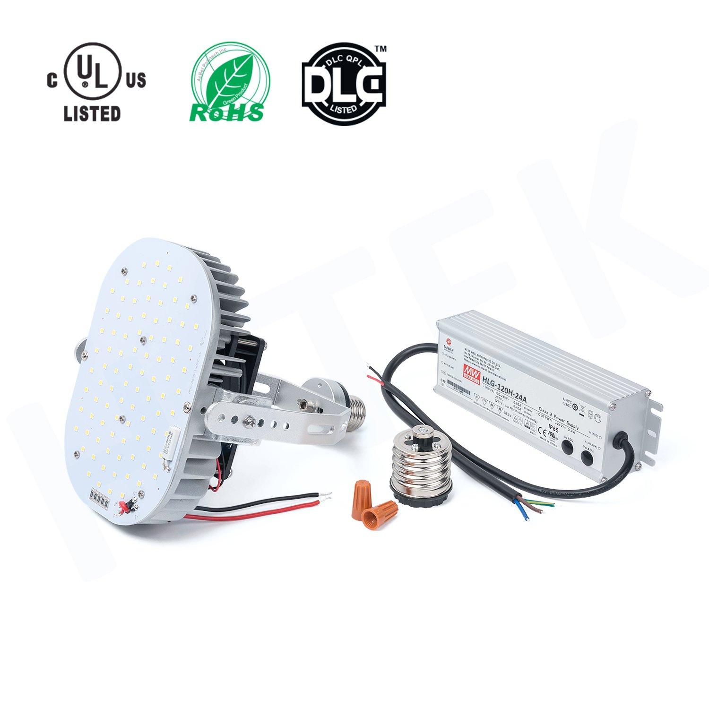 H-TEK 120W LED Retrofit Kits [550W Metal Halide Bulbs Equivalent] 100-277V 5000K, LED Retrofit kits for Canopy, Shoebox, Post Pole Head and Wall Pack Fixtures by H-TEK