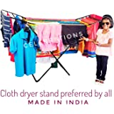 Celebrations Cloth Drying Stand - Sturdy and Sleek Cloth Dryer Stand for Drying All Kinds of Indian Attires (Multi Colors)