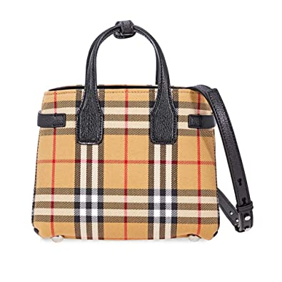 c7b21f5c9bb4e Burberry Baby Banner Vintage Check Crossbody Bag- Black  Handbags ...