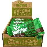 BodyMe Organic Vegan Protein Bar   Raw Cacao Mint   12 x 60g Vegan Protein Snack Bars   Gluten Free   16g Complete…