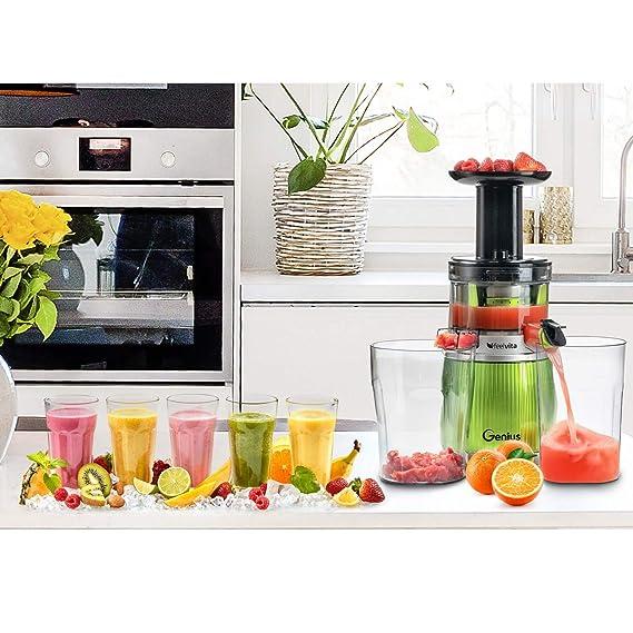 Genius Feelvita Slow Juicer - Exprimidor de frutas y ...