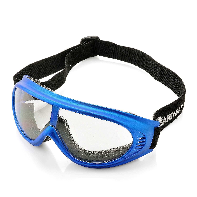 Gafas de Protección Para Niños Cómodo Transpirable con Cinta Ajustable,Gafas de Seguridad Anti niebla,Anti Viento,Anti Arena Jugar SG021BU