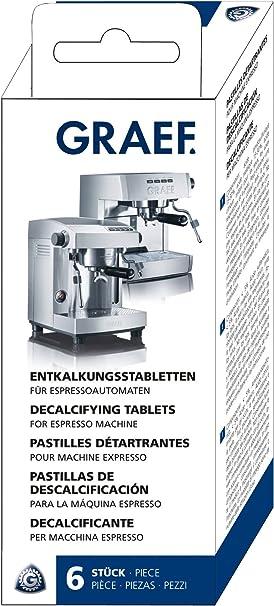 Graef 145618 - Pastillas antical para cafeteras espresso, 6 unidades: Amazon.es: Hogar